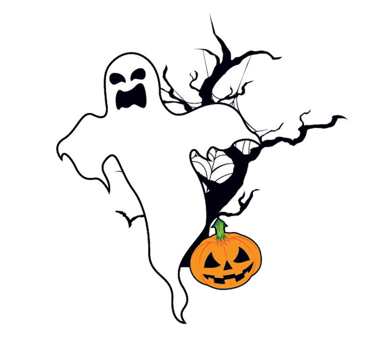 Ghost & Pumpkin Temporary Tattoo image number null