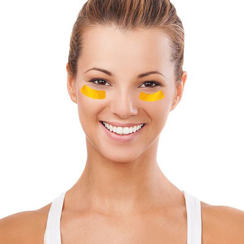 Gold Metallic Eyeblacks Temporary Tattoo image number null