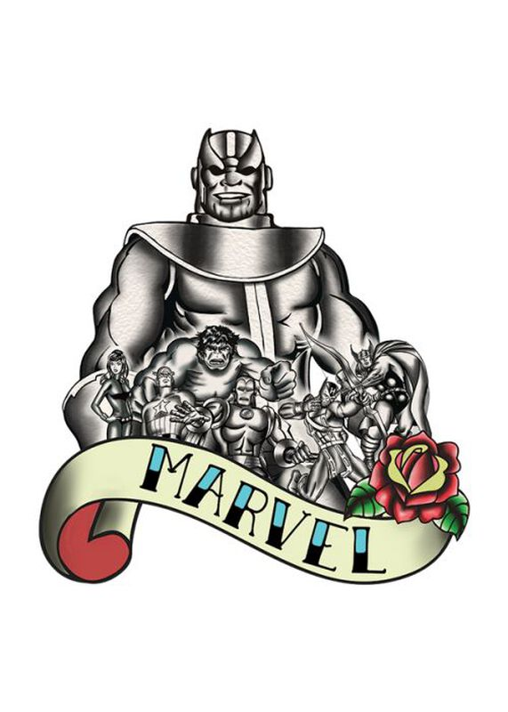 Marvel Ink Avengers Thanos Temporary Tattoo image number null