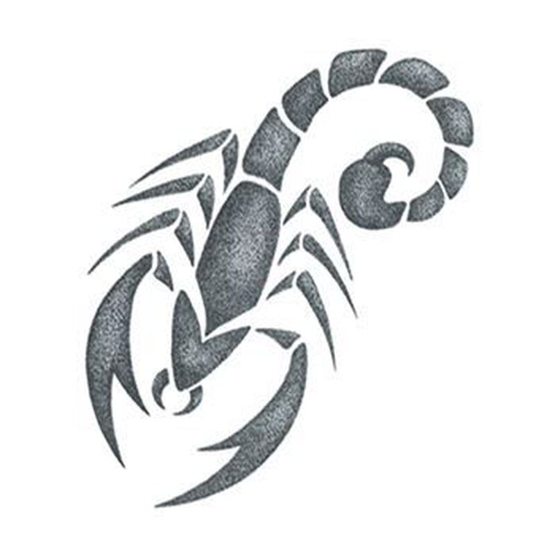 Small Gray Scorpion Temporary Tattoo image number null