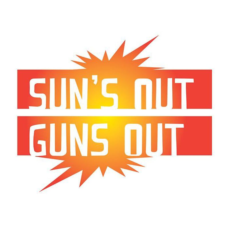 Suns Out Guns Out Temporary Tattoo image number null