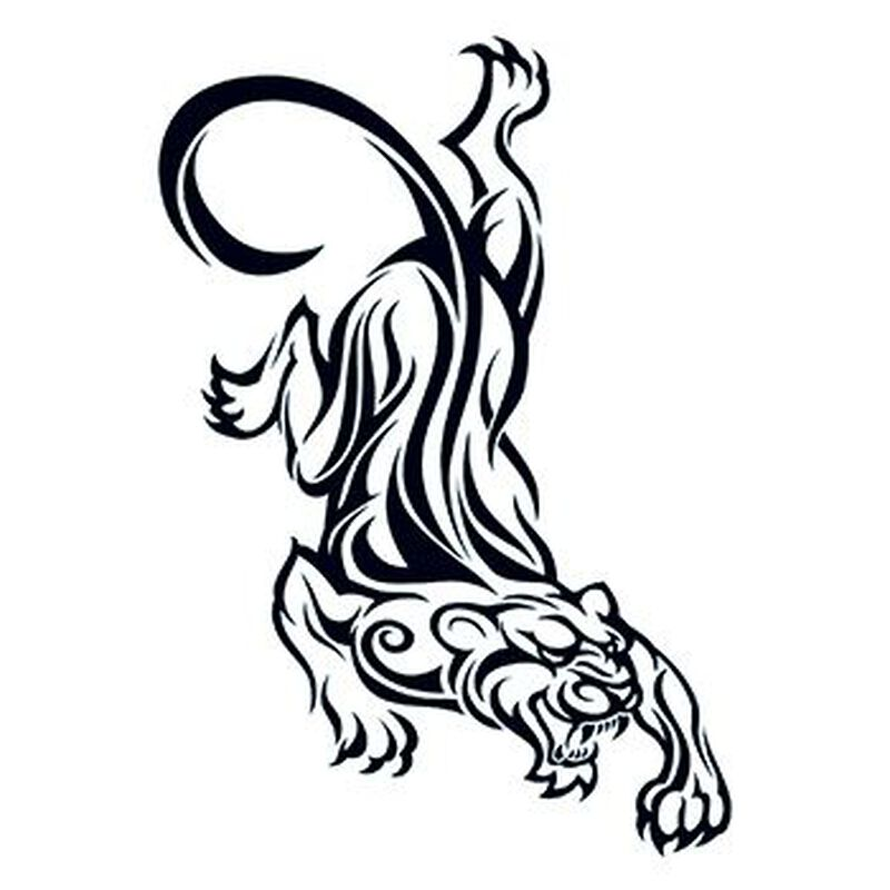Tribal Panther Temporary Tattoo image number null