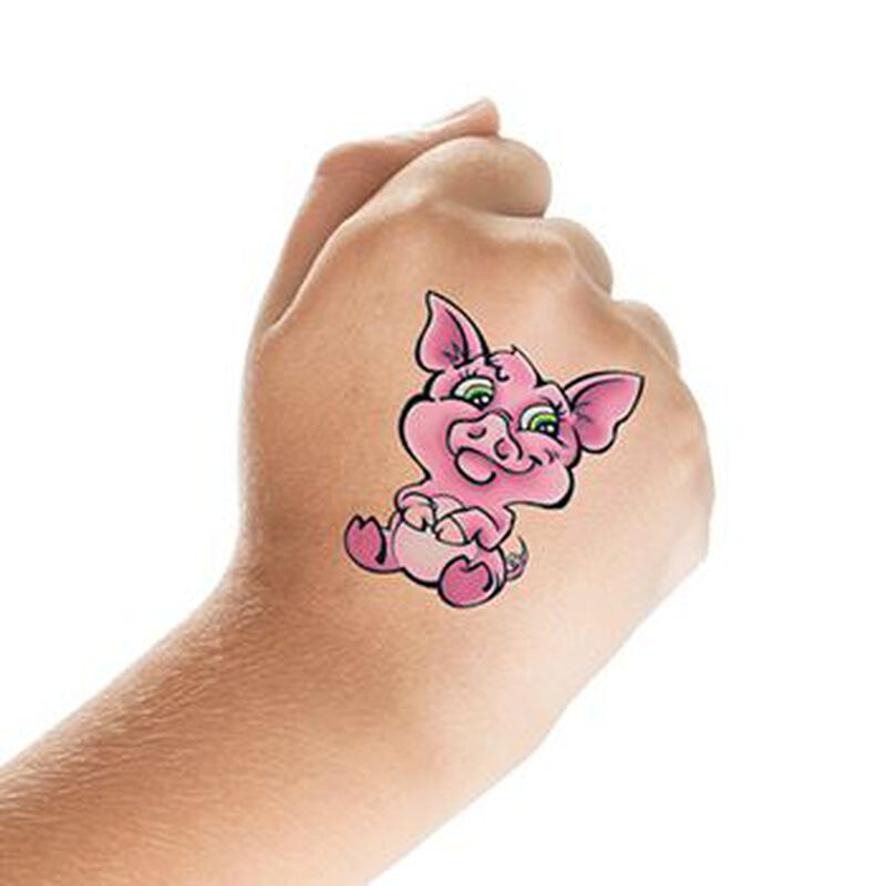 Cute Pig Temporary Tattoo image number null
