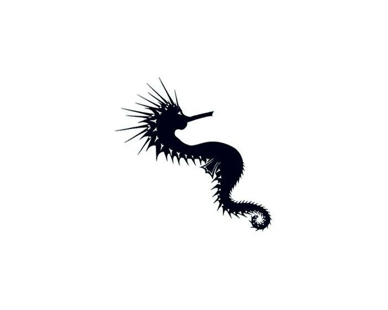 Tribal Sea Horse Temporary Tattoo image number null