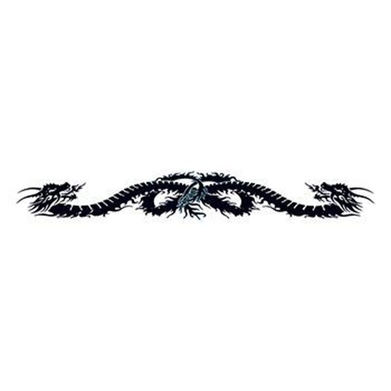 Black Dragon Band Temporary Tattoo image number null