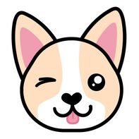 Corgi Face Temporary Tattoo