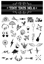 Tiny Tats No. 6 Temporary Tattoos