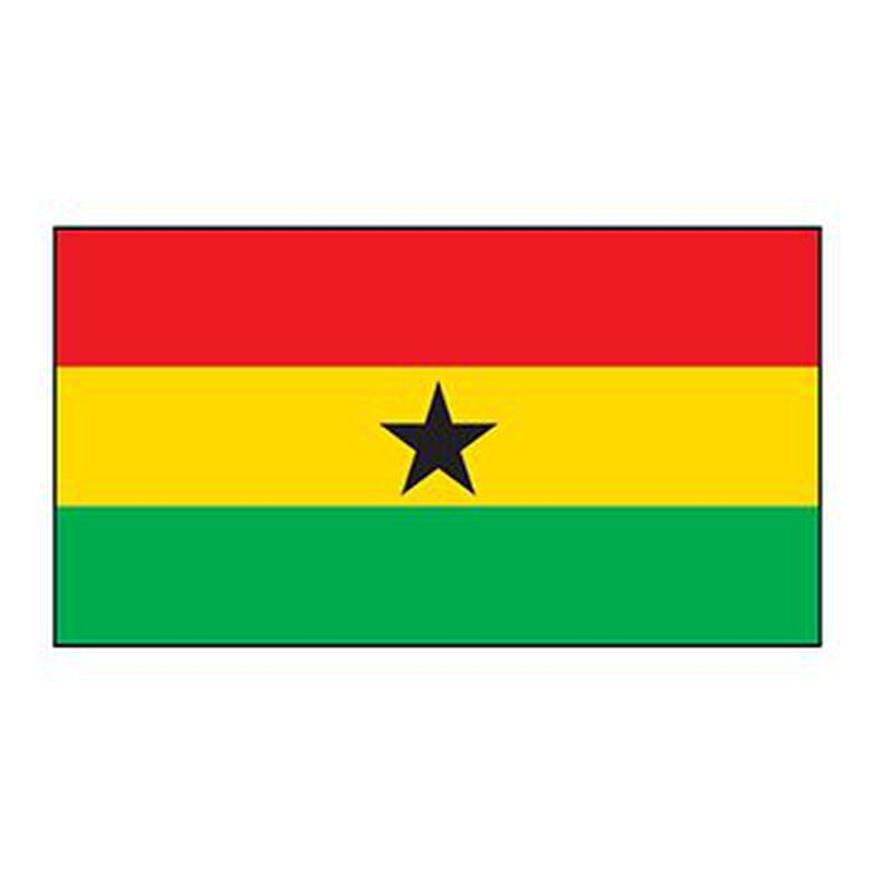 Ghana Flag Temporary Tattoo image number null