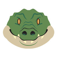 Gator Face Temporary Tattoo