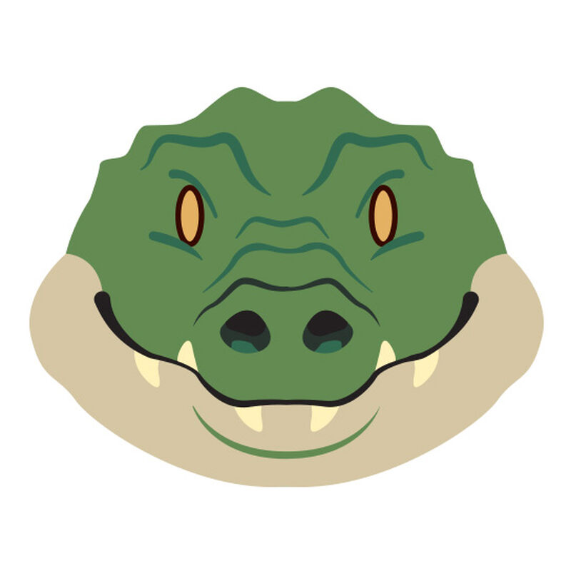 Gator Face Temporary Tattoo image number null