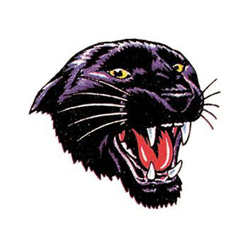 Snarling Black Panther Temporary Tattoo image number null