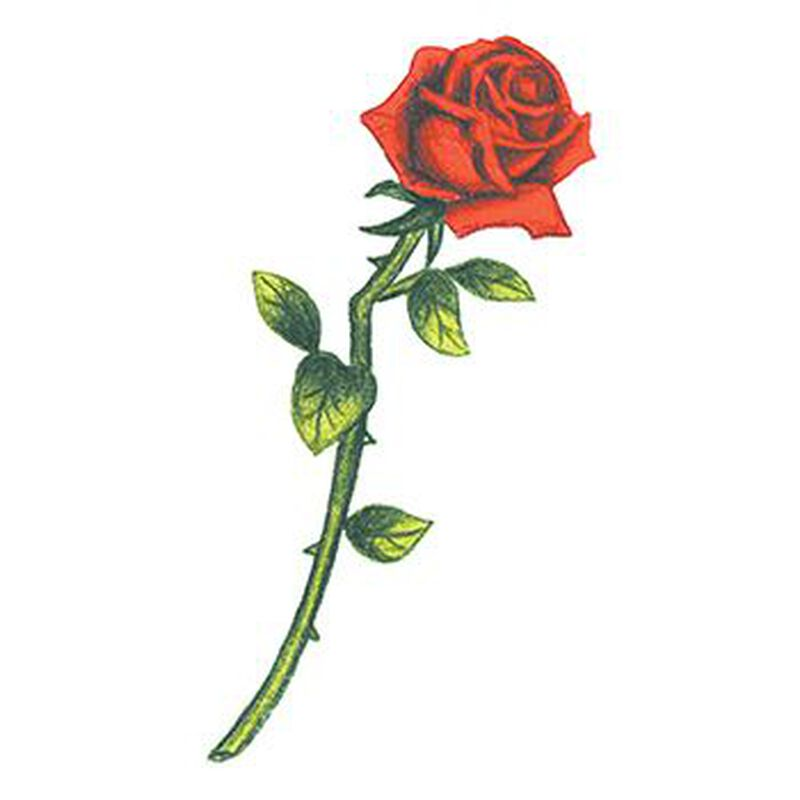 Traditional Rose Temporary Tattoo image number null