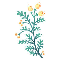 Yellow Snaps Floral Temporary Tattoo