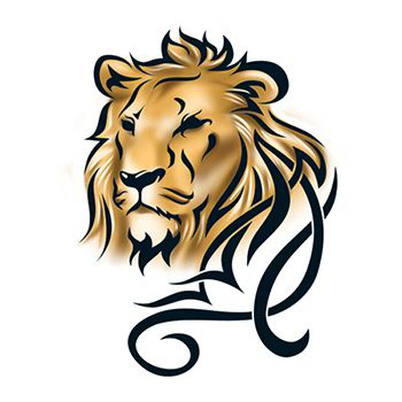 Tribal Lion Temporary Tattoo image number null