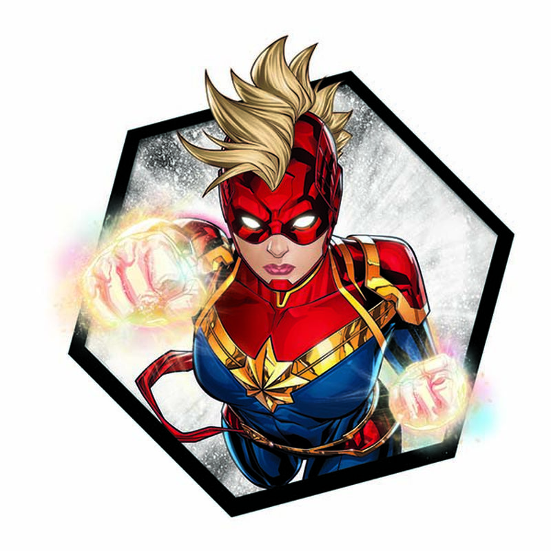 Avengers Captain Marvel Badge Temporary Tattoo image number null