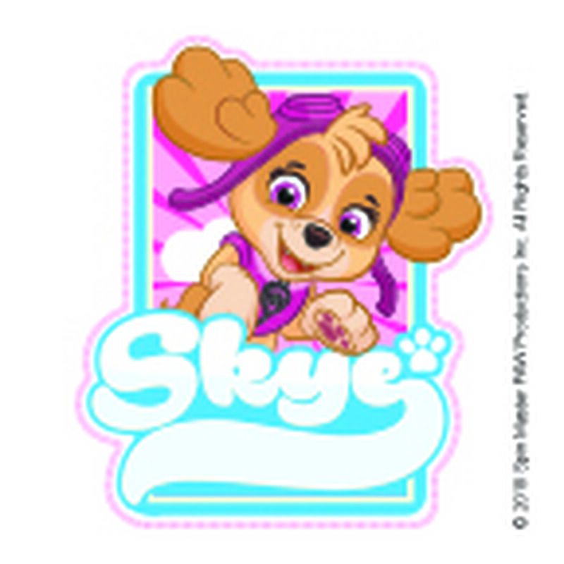PAW Patrol Skye Badge Temporary Tattoo image number null