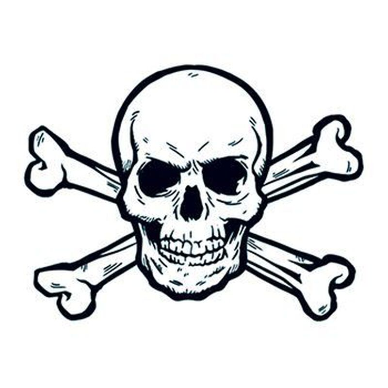 Skull and Crossbones Temporary Tattoo image number null