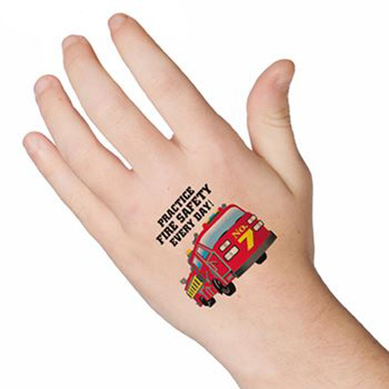 Fire Safety Temporary Tattoo image number null
