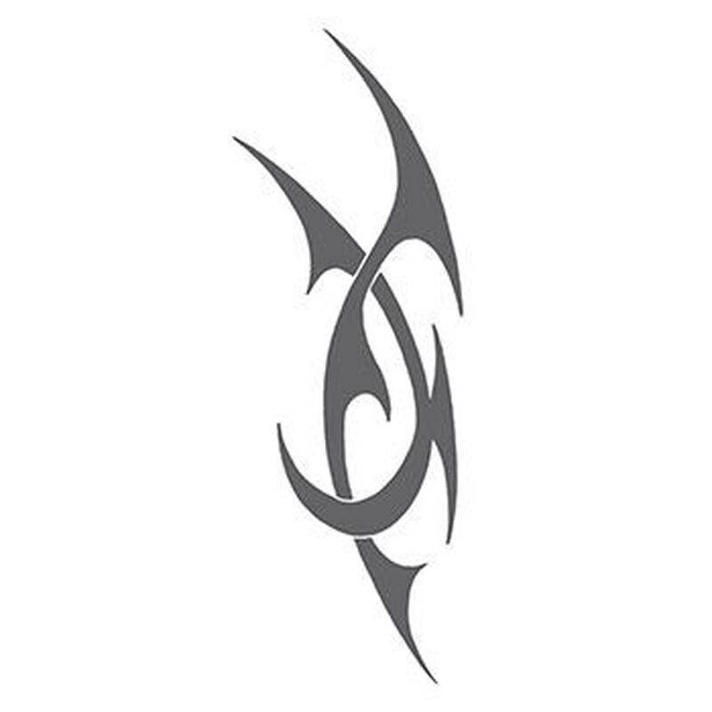 Intertwined Tribal Gray Design Temporary Tattoo image number null