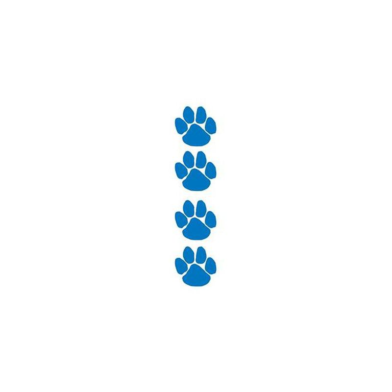 Blue Paw Prints Temporary Tattoo Set image number null