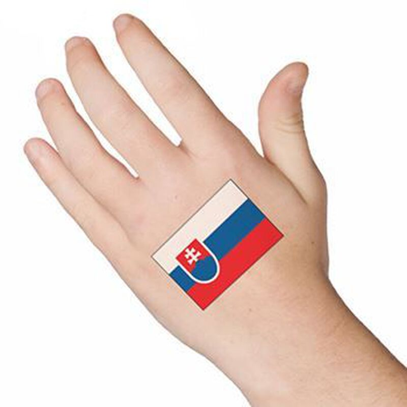 Slovakia Flag Temporary Tattoo image number null