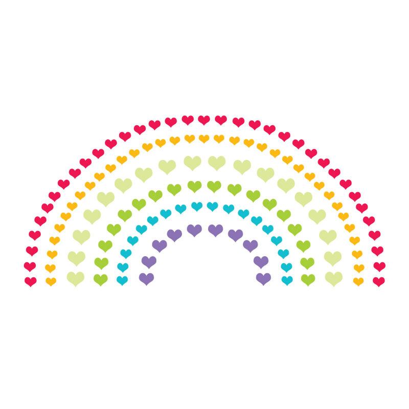 Heart Rainbow with Reveal Glow-in-the-Dark Temporary Tattoo image number null