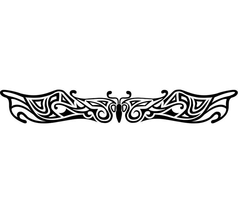 Glow in the Dark Butterfly Band Temporary Tattoo image number null