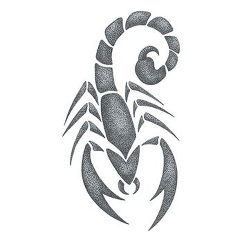 Gray Scorpion Temporary Tattoo image number null