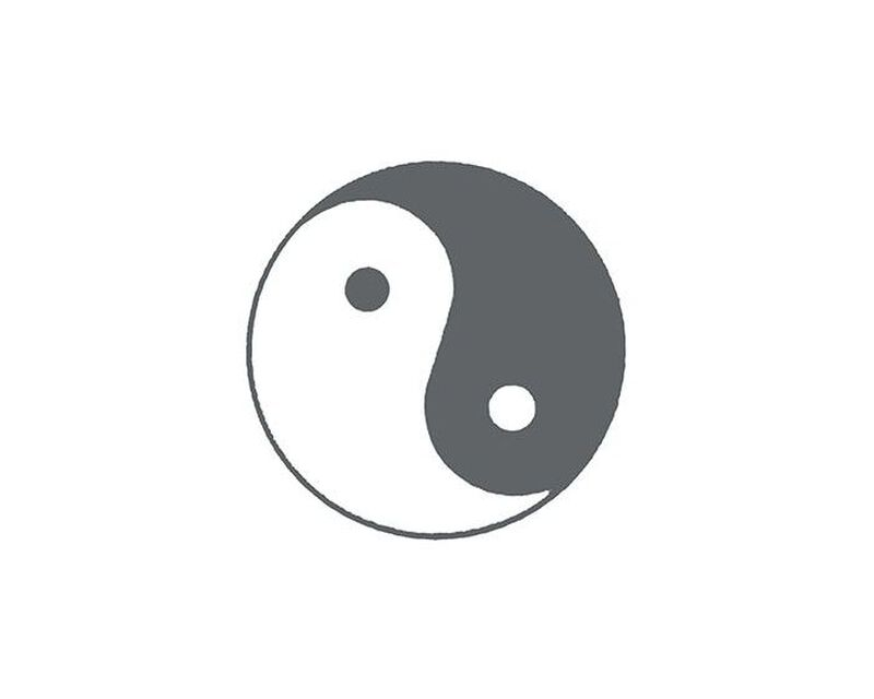 Glow in the Dark Yin Yang Temporary Tattoo image number null