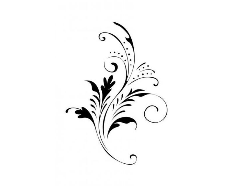 Ivy Floral Temporary Tattoo image number null