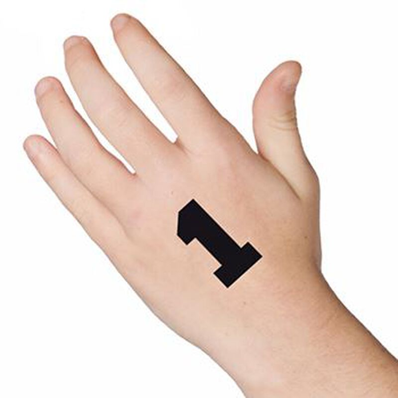 Number 1 Temporary Tattoo image number null