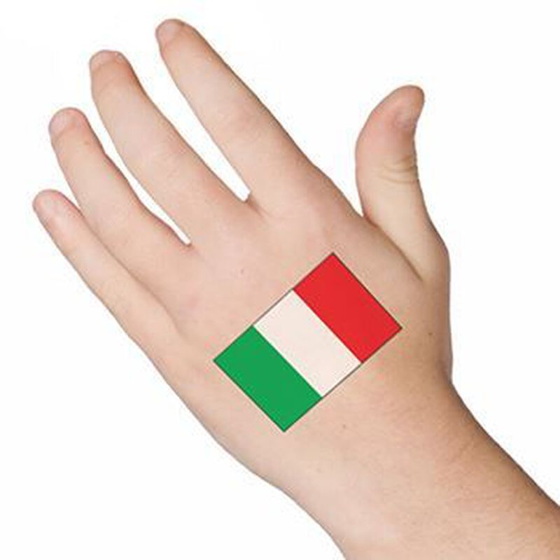 Italy Flag Temporary Tattoo image number null