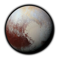 Photorealistic Pluto Temporary Tattoo