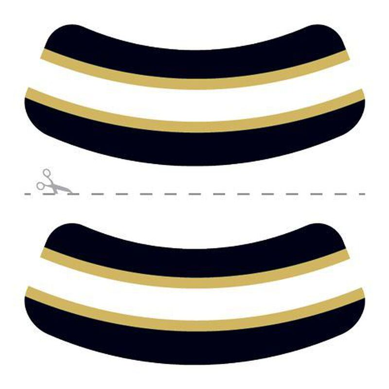 Black, Gold & White Eye Black Temporary Tattoo image number null