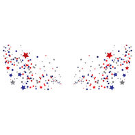 Metallic Patriotic Flashy Freckles Face Temporary Tattoo