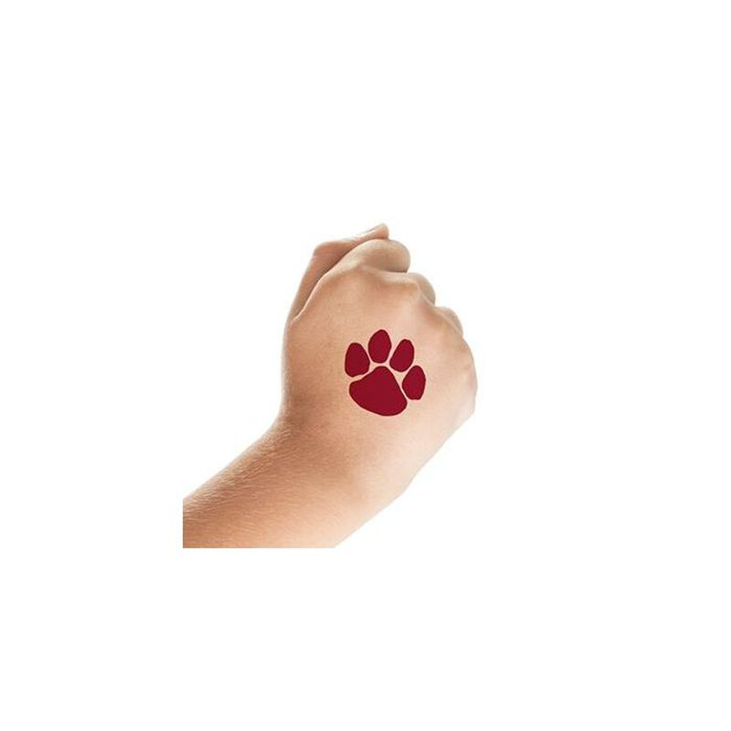 Maroon Paw Print Temporary Tattoo image number null