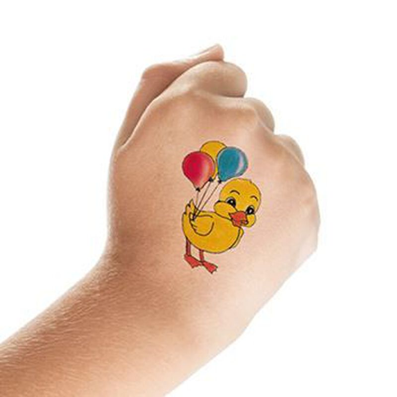 Duck with Balloons Temporary Tattoos image number null