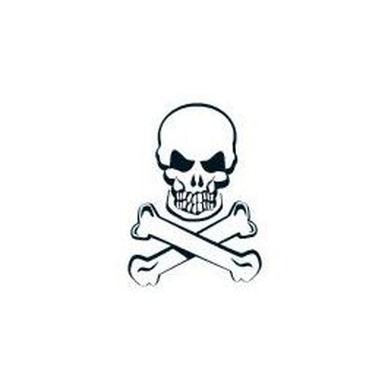 Glow in the Dark Skull and Crossbones Temporary Tattoo image number null
