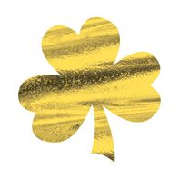 Metallic Gold Shamrock Temporary Tattoo