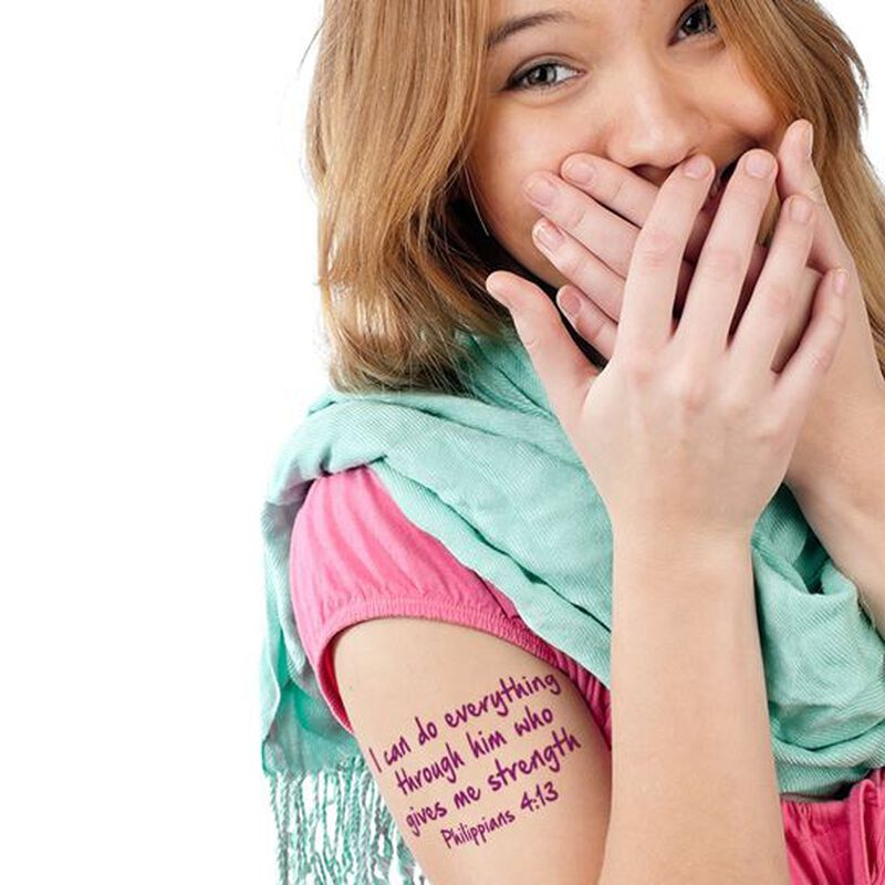 Phillippians 4:13 Temporary Tattoo image number null