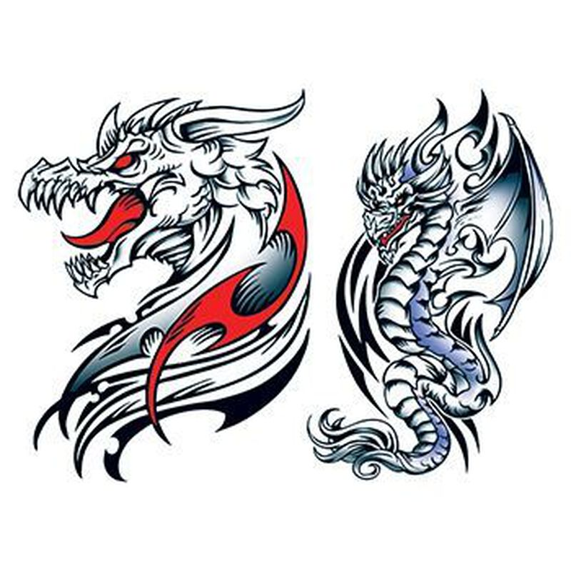 Knucker Dragons Temporary Tattoo Set image number null