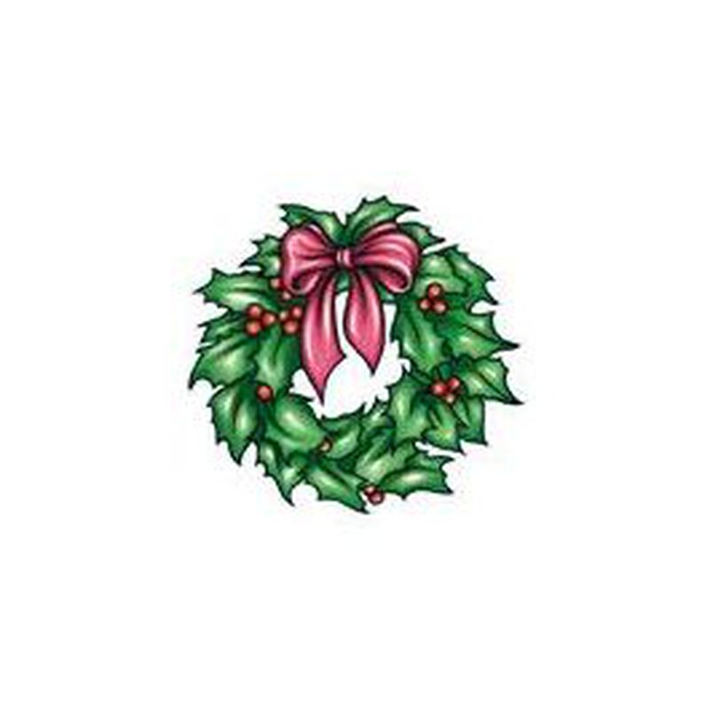 Christmas Wreath Temporary Tattoo image number null