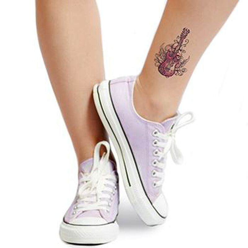 Wicked Midnight Rocker Temporary Tattoo image number null