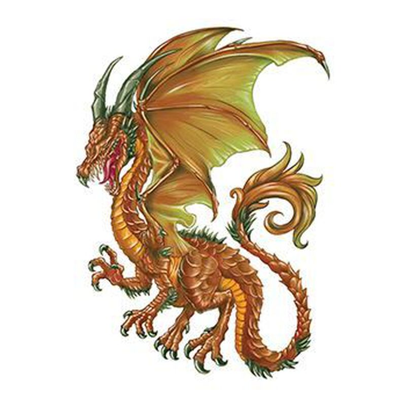 Brown Dragon Temporary Tattoo image number null