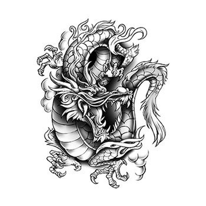 Urban Dragon Temporary Tattoo image number null