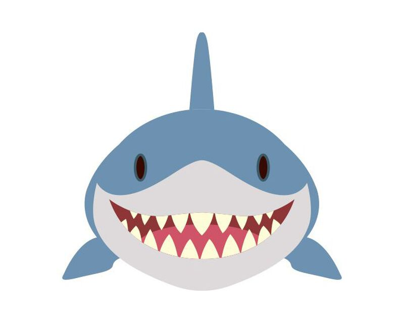 Shark Face Temporary Tattoo image number null