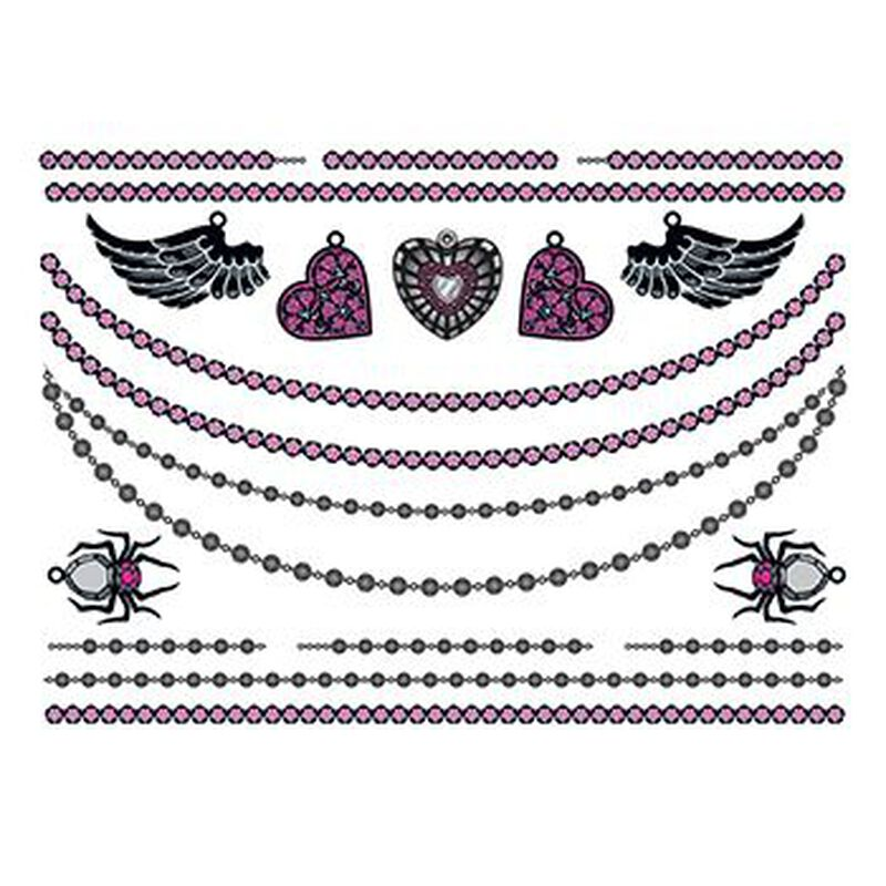 Hearts and Wings Temporary Tattoo Jewelry Set image number null