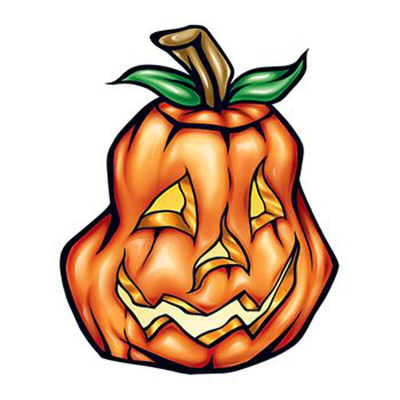 Happy Pumpkin Temporary Tattoo image number null