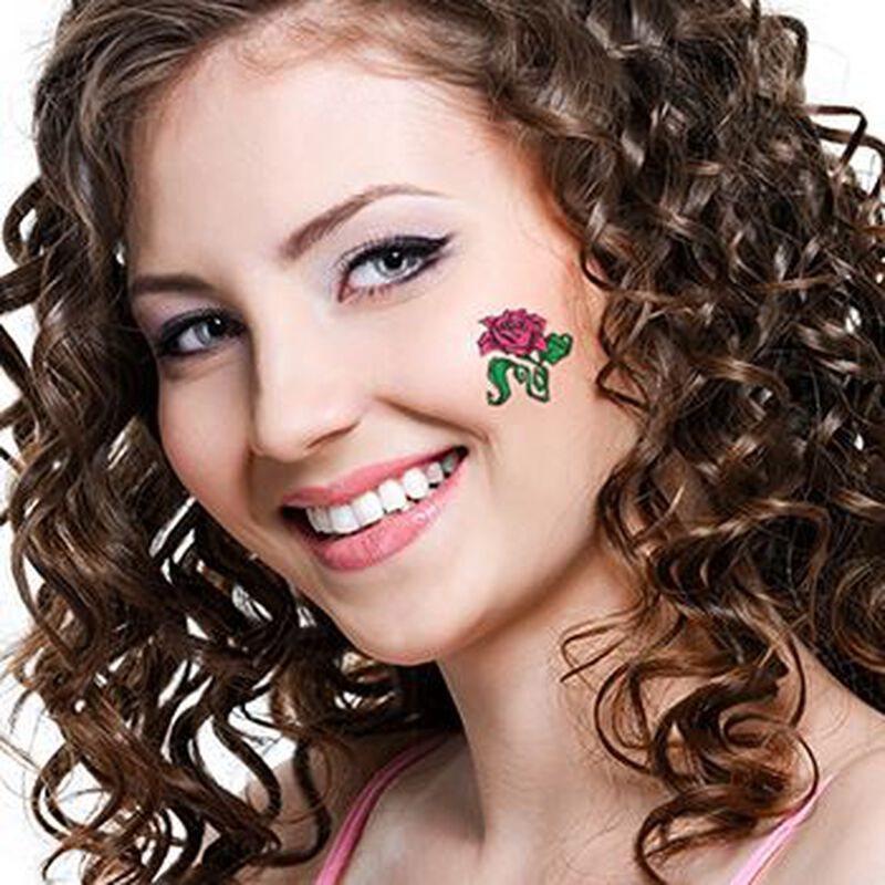 Purple Rose Temporary Tattoo image number null
