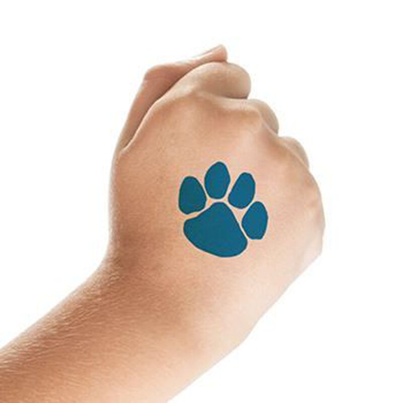 Small Blue Paw Print Temporary Tattoo image number null